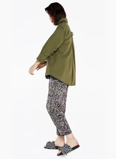 Çapraz İp Bağcık Sırtlı Broşlu Ceket-Twist